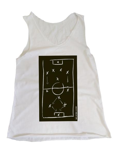 Camiseta Regata Feminina Qual a Sua Tática?