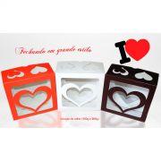 Caixa para Coração de colher (200g) - Dia dos Namorados (kit com 10 caixas)