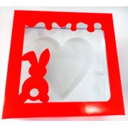 Caixas para coração de colher LOVE 200g (kit com 10 caixas)