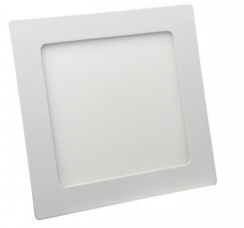 Painel led embutir quadrado 18W bc Frio 6400k
