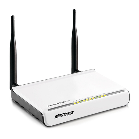 Roteador Wireless Multilaser N Re040 Com 2 Antenas Destacaveis 300 Mbps