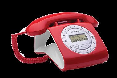 Telefone Com Fio Intelbras 8312 Vermelho