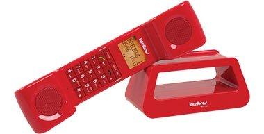 Telefone Sem Fio Intelbras TS8120 Vermelho