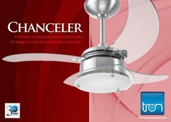 Ventilador Chanceler 127v Cromado + Controle Remoto PW