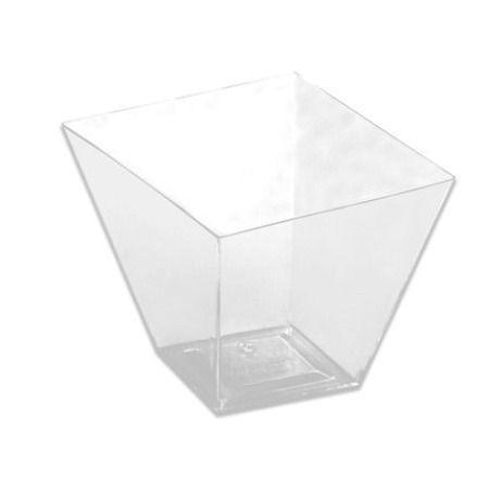 Copo Mini Quadratto Cristal 40 Ml - Pacote Com 10 Unidades