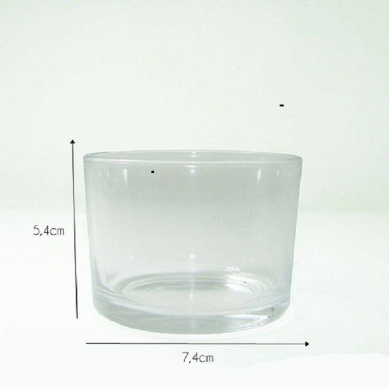Pote De Vidro para Velas (Castiçal/Porta Velas) - Caixa com 48 unidades