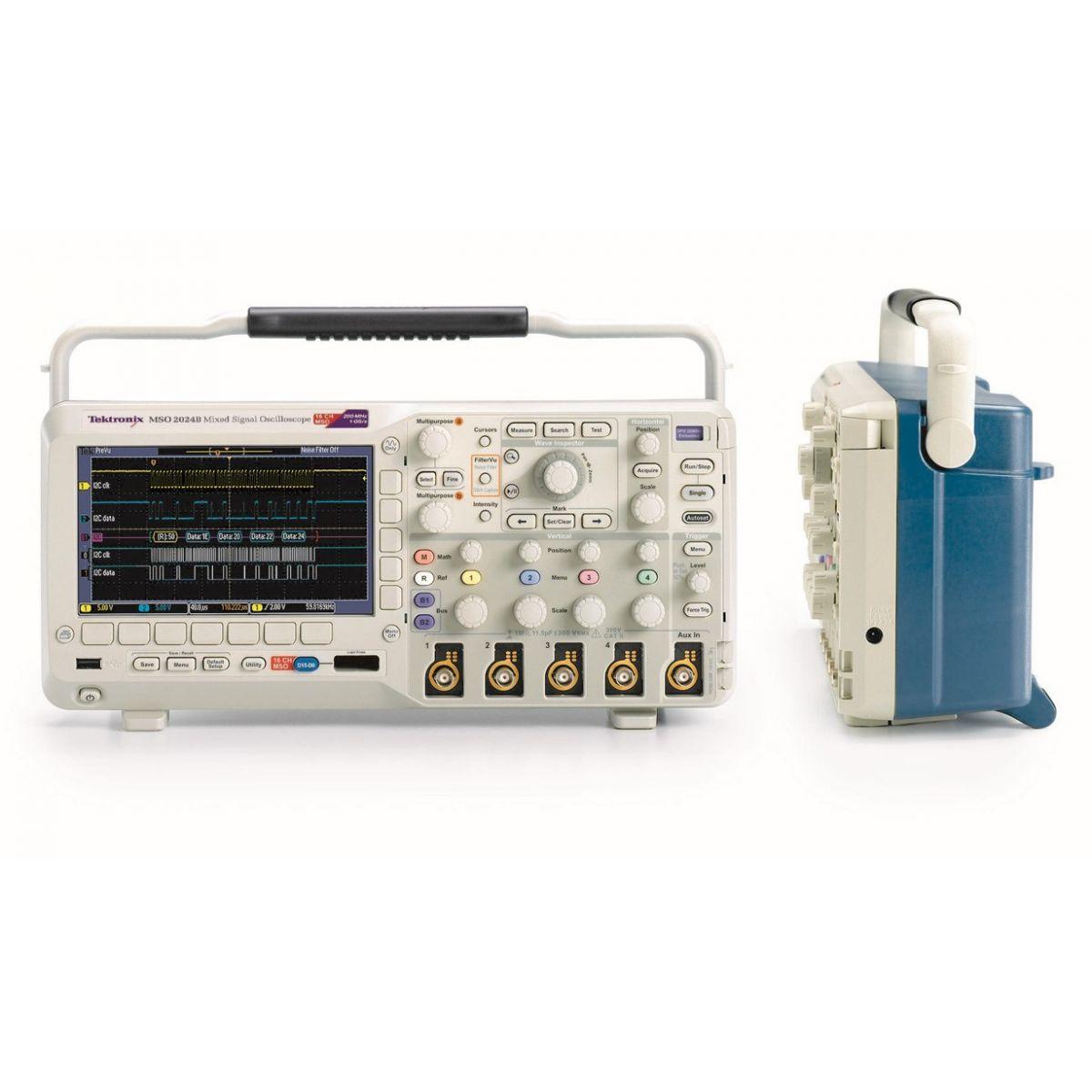 Osciloscópio Digital 70MHz, 2+16 canais, 1M de 1GS/s - MSO2002B