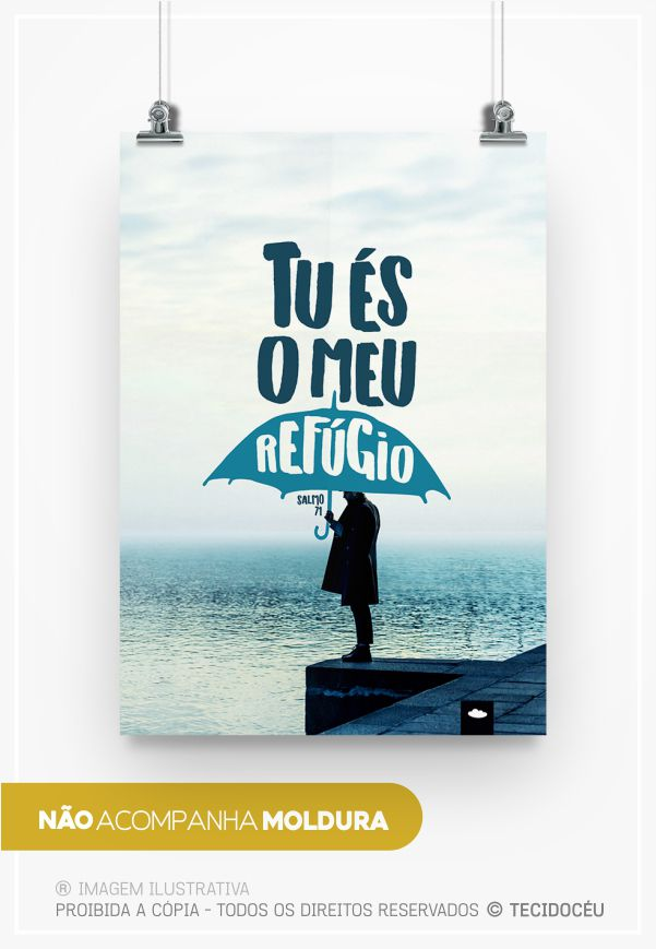 "PÔSTER ""TU ÉS MEU REFÚGIO"""
