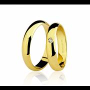 Par de Alianças Ouro 18k Amarelo