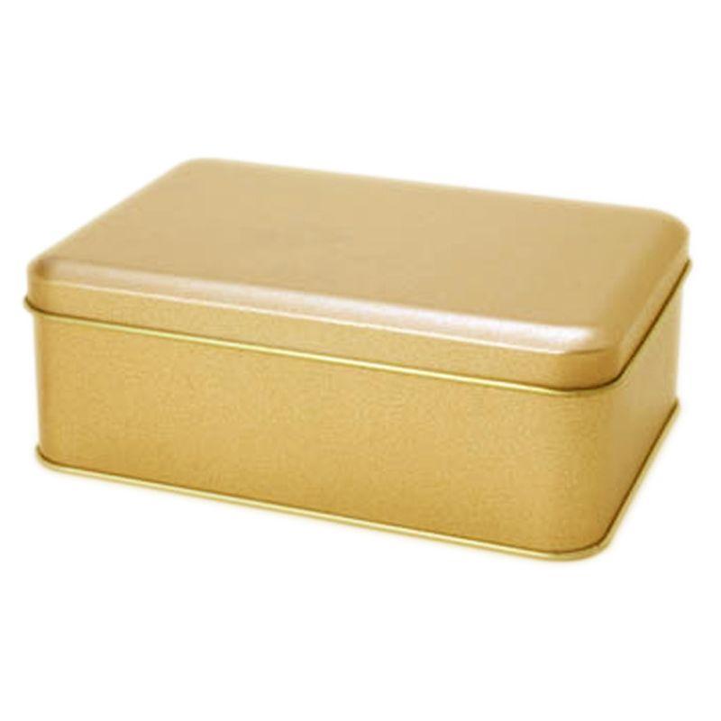 10,9 x 15,3 x 5,5cm - Lata Dourada - REF.0010955