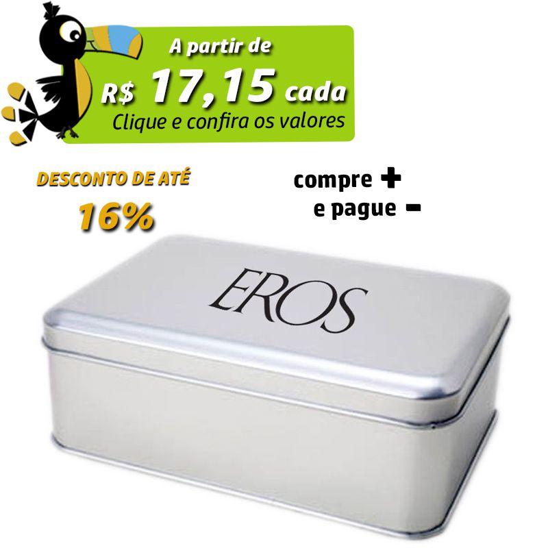 10,9 x 15,3 x 5,5cm - Lata Prata - REF.0010890