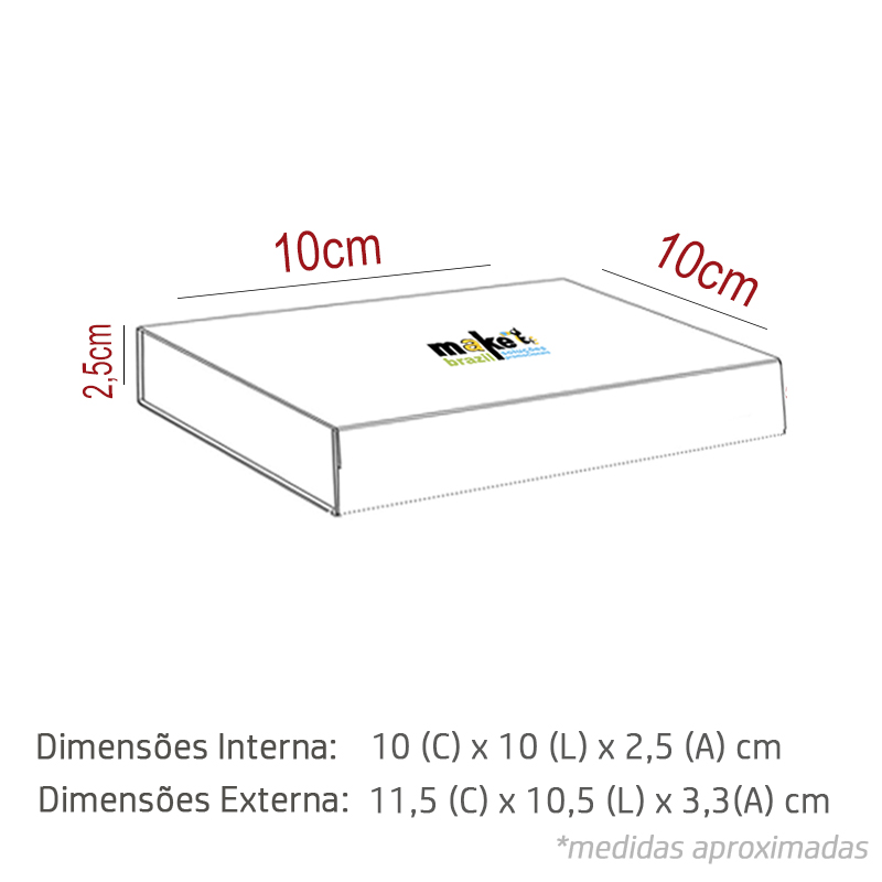 10 x 10 x 2.5cm - Branca - Premium - REF.025011 - A PARTIR DE