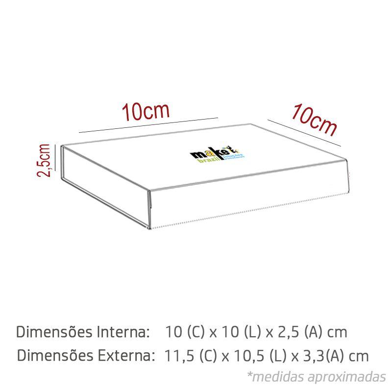 10 x 10 x 2,5cm - Caixa Premium Magnética Branca - Ref.020021