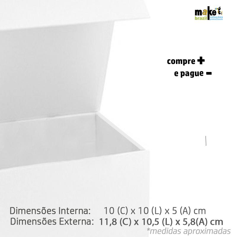 10 x 10 x 5.5cm - Branca - Premium Magnética  - REF.02003