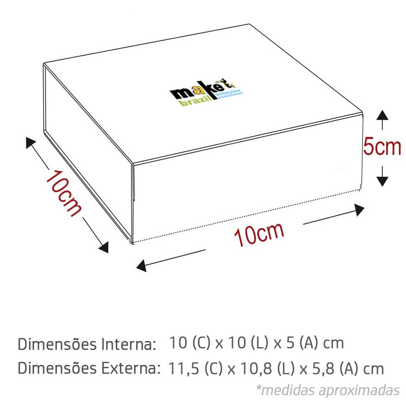 10 x 10 x 5.5cm - Branca - Premium - REF.025031 - A PARTIR DE