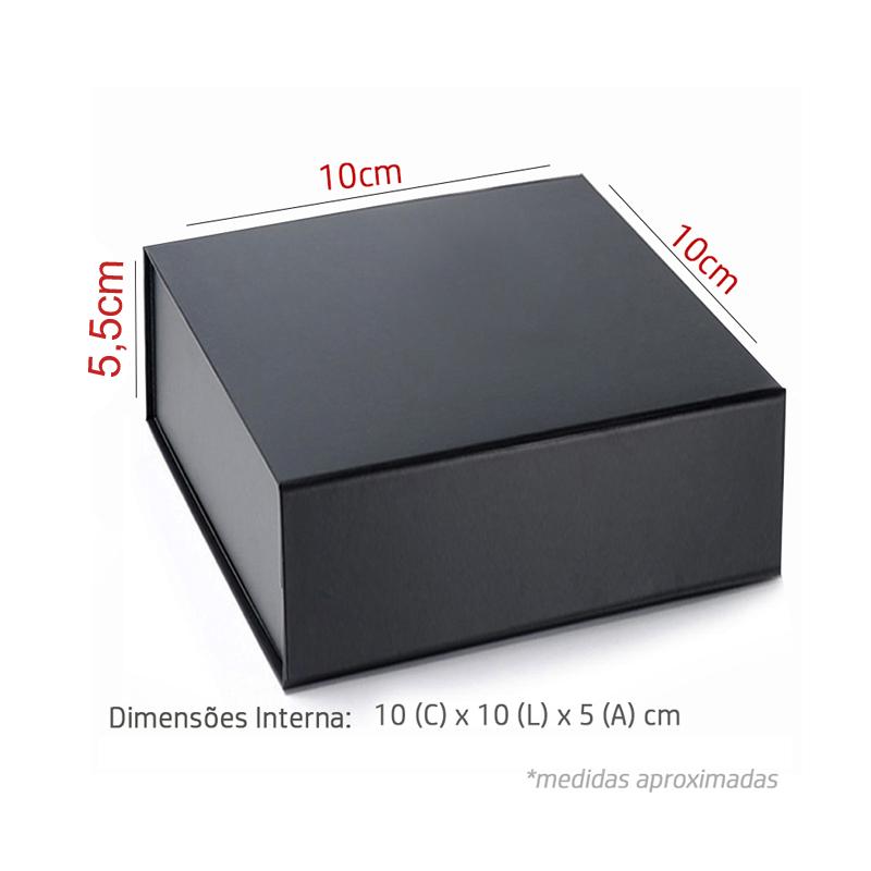 10 x 10 x 5.5cm - Preta - Premium Magnética  - REF.020030