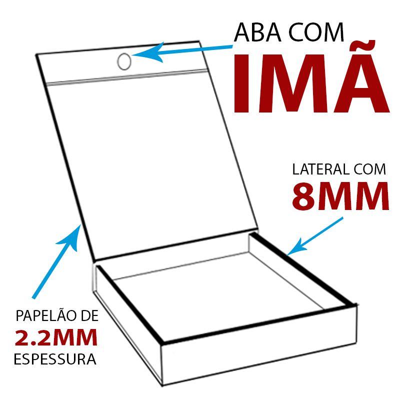 10 x 10 x 5CM - CAIXA MAGNÉTICA PRETA - REF.0200001 - A PARTIR DE