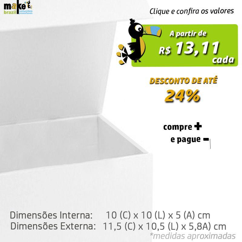 10 x 10 x 5cm - Caixa Premium Magnética Branca - REF.020031
