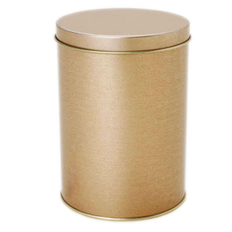 10 x 14,6cm - Lata Aço Redonda Ouro