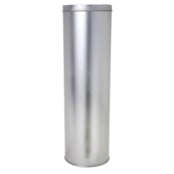 10 x 33cm - Lata Aço Redonda Prata