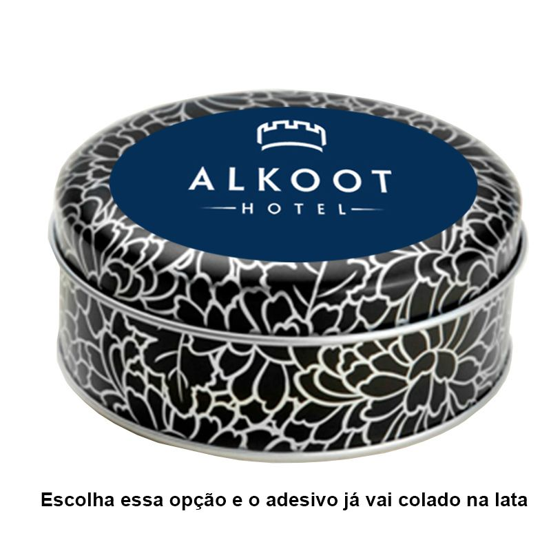 10 x 3,9cm - Lata Dálias Prata - Ref.0015144