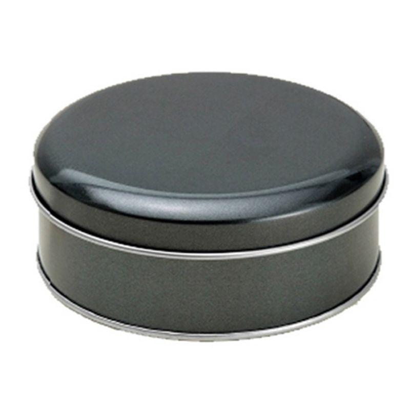 10 x 3,9cm - Lata Aço Redonda Preta Metalizado