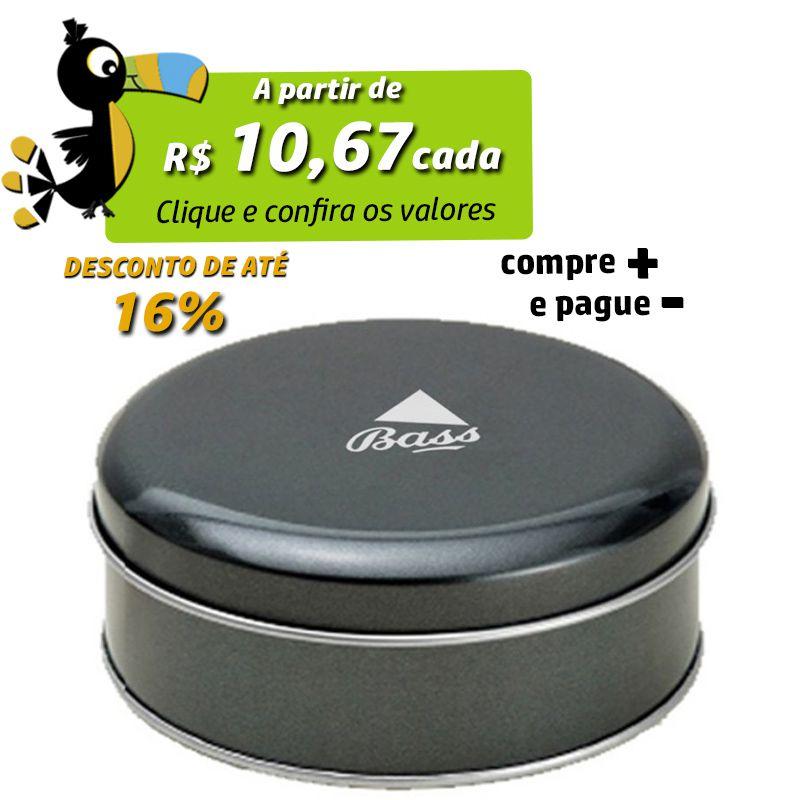10 x 3,9cm - Lata Preta Metalizada - REF.0015122