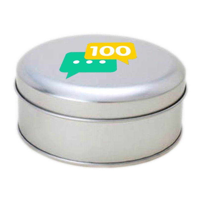 10 x 3,9cm - Lata Prata - Ref.0010907