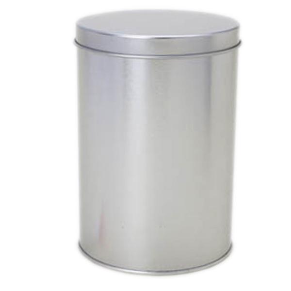 10 x 14,6 cm - Lata Aço Redonda Prata