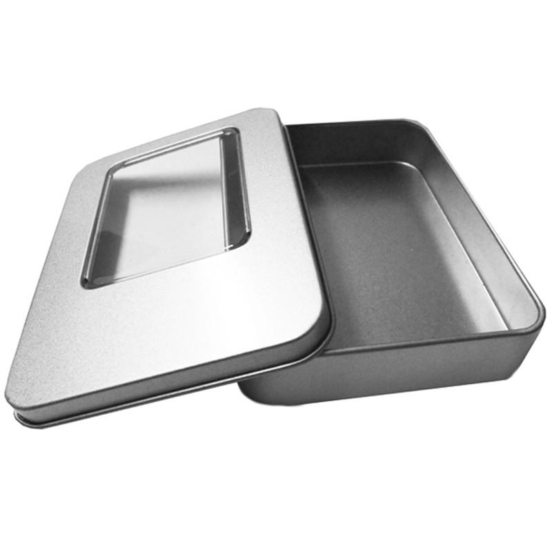 11,5 x 8,5 x 2,2 cm Lata metal com visor  Ref.0015102
