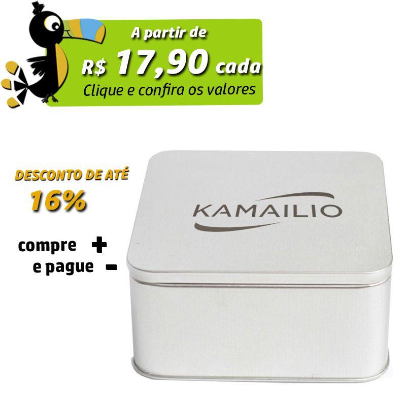 11 x 11 x 5cm - Lata Prata - REF.0010950