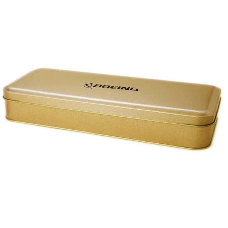 11 x 25,9 x 4,4cm - Lata Aço Dourada