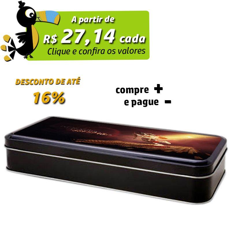 11 x 25,9 x 4,4cm - Lata Preta - REF.0011049