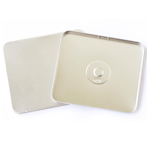 12,2 x 13,9 x 1cm - Lata Aço para CD / DVD Prata