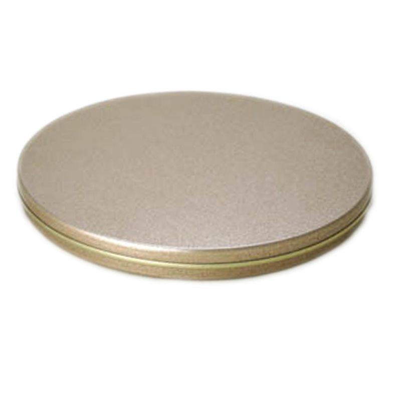 12,3 x 1cm - Lata CD / DVD Dourada - REF.0010974