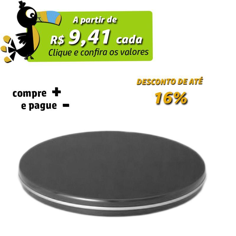 12,3 x 1cm - Lata CD / DVD Preta - REF.0011103