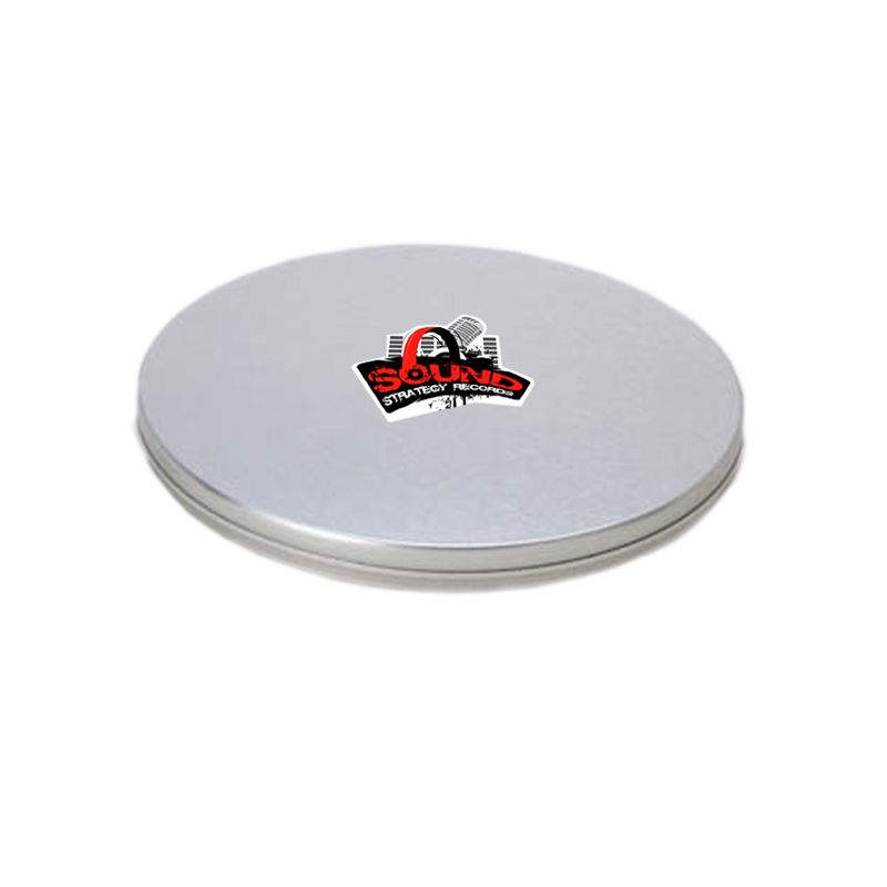 12,3 x 1cm - Lata CD / DVD Prata - REF.0010913