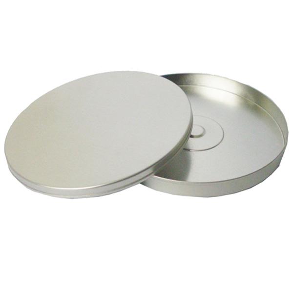 12,3 x 1cm - Lata CD / DVD Redonda Prata