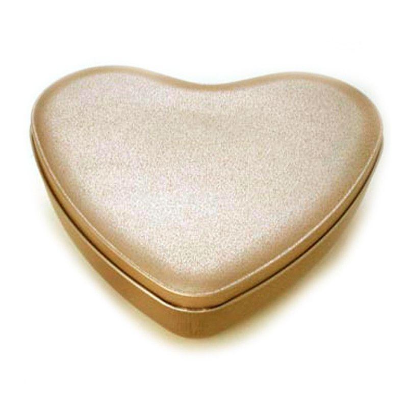 13,5 x 15,2 x 4cm - Lata Coração Dourada - REF.0010999