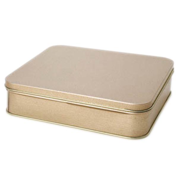 13,8 x 15,5 x 3,8cm - Lata Dourada - REF.0010954