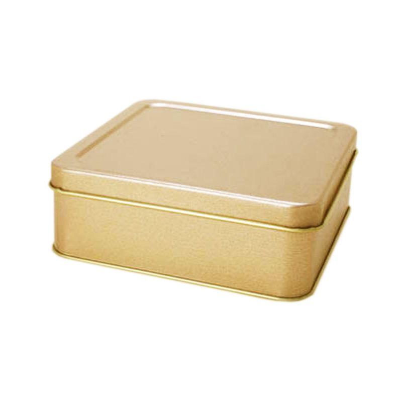 13 x 13 x 4,7 cm Lata Dourada - Ref. 0010946