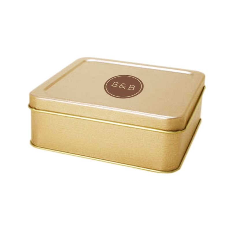 Lata 13 x 13 - Altura 4,7cm - Dourada - REF.0010946 - A partir de
