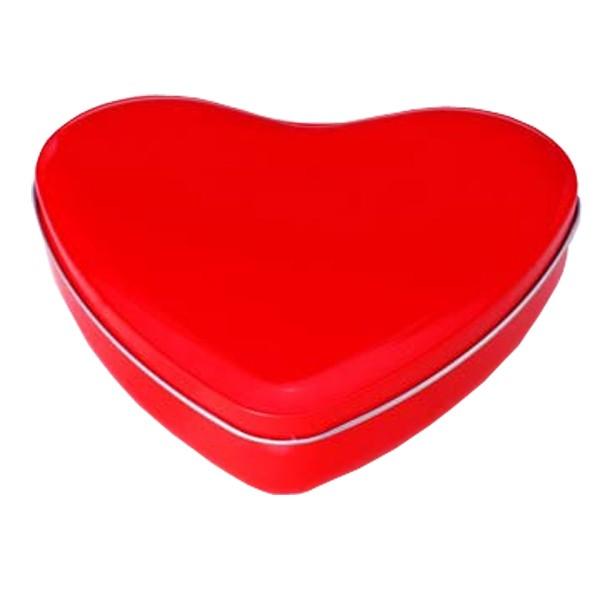 13x15x4cm Lata Aço Coração Vermelha