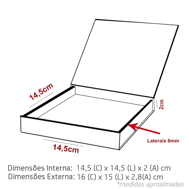 14.5 x 14.5 x 2cm - Branca - PREMIUM - REF.025051 - A PARTIR DE