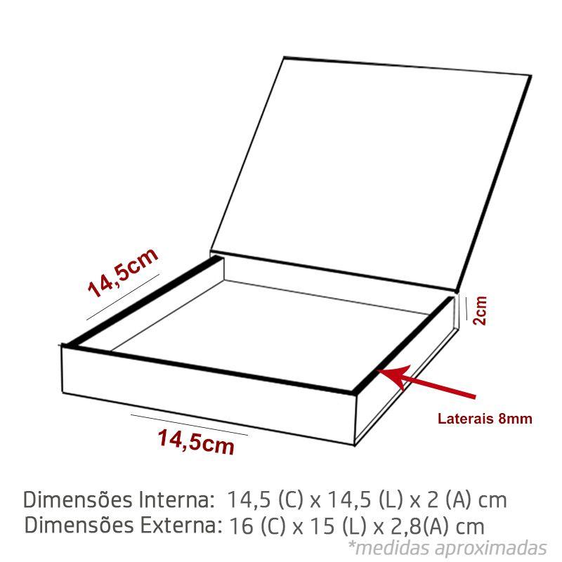 14,5 x 14,5 x 2cm - Caixa Premium Branco - Ref.025051
