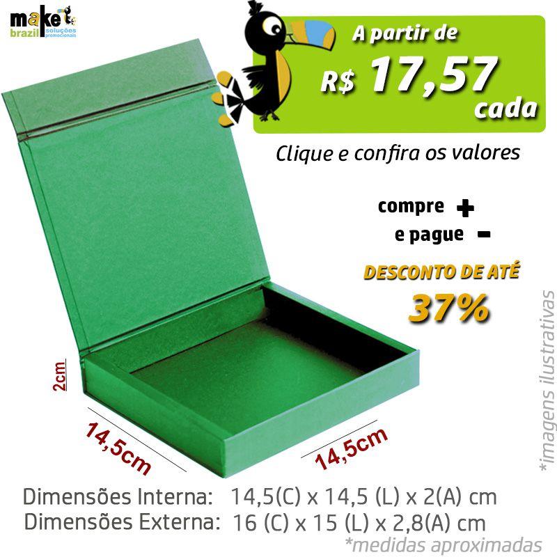 14,5 x 14,5 x 2CM - CAIXA PREMIUM MAGNÉTICA Color - REF.020052