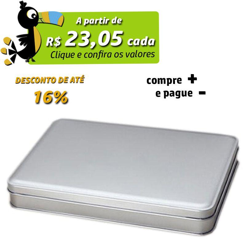 15,1 x 21,7 x 2,9cm - Lata Prata - REF.0014969