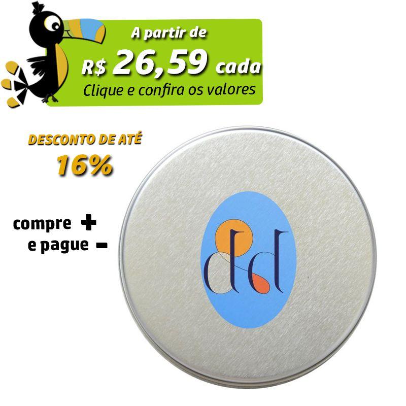 15,5 x 16cm - Lata Prata - REF.0010934
