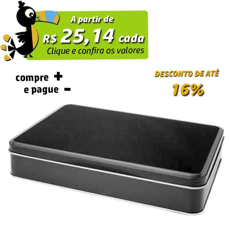 15,1 x 21,7 x 4,9cm - Lata Preta - REF.0011058