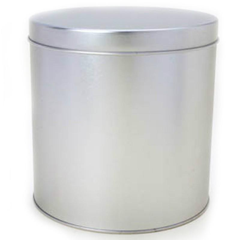 15,5 x 16cm - Lata Redonda Prata